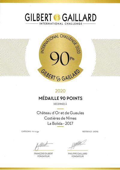 Médaille La Bolida Gilbert et Gaillard