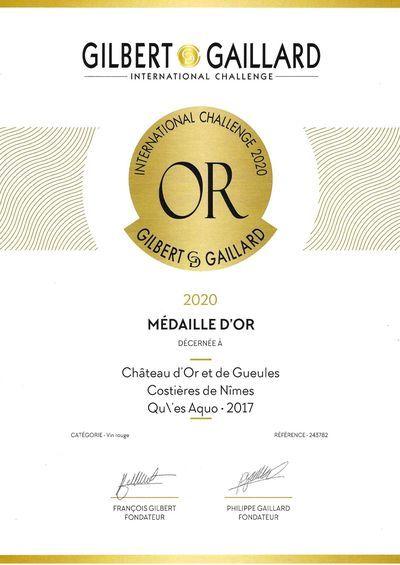 Médaille Qu'es aQuo Gilbert et Gaillard